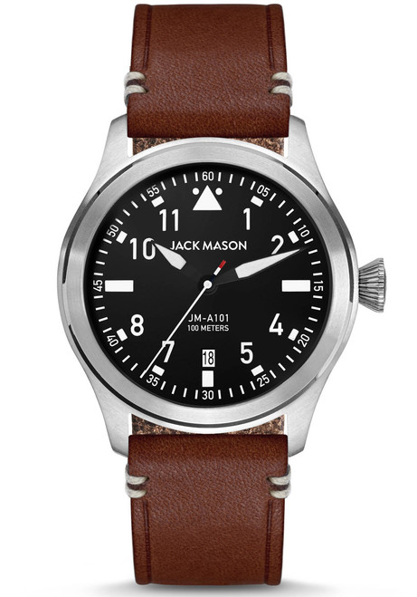 Jack Mason Aviation Silver Brown (JM-A101-002) front
