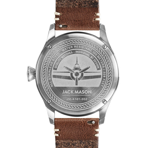 Jack Mason Aviation Silver Brown (JM-A101-002) caseback