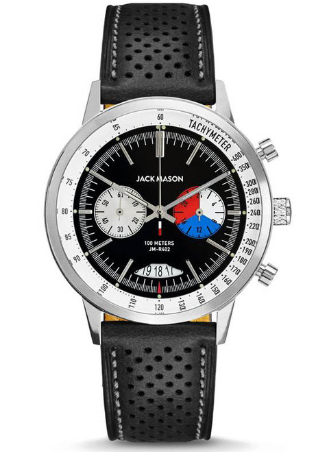 Jack Mason Racing Chronograph Leather Black (JM-R402-003) front