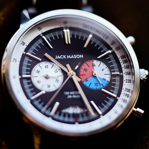 Jack Mason Racing Chronograph Leather Black (JM-R402-003) dial