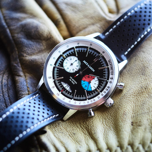 Jack Mason Racing Chronograph Leather Black (JM-R402-003)