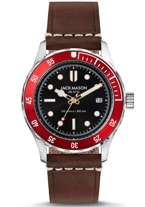 Jack Mason Diver Red Brown (JM-D101-018) front