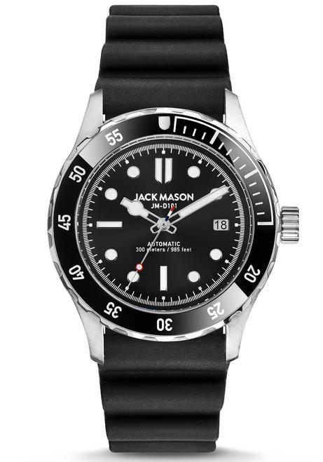 Jack Mason Diver Automatic Rubber Black (JM-D103-002) front