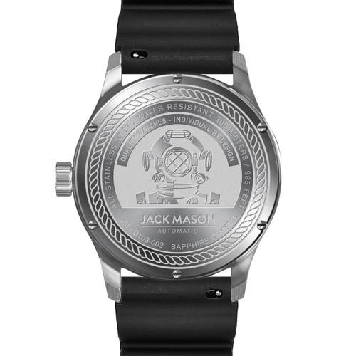 Jack Mason Diver Automatic Rubber Black (JM-D103-002) caseback