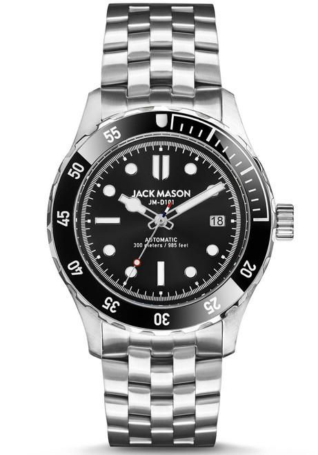 Jack Mason Diver Automatic Stainless Steel Black (JM-D103-001) front