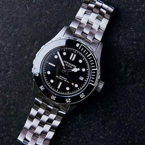 Jack Mason Diver Automatic Stainless Steel Black (JM-D103-001)