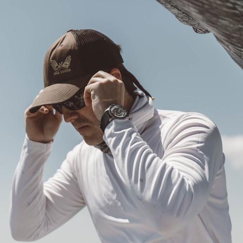 Jack Mason Yacht Timer Rubber Silver Black (JM-N105-004) wrist