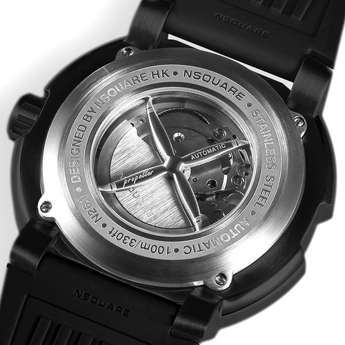 Nsquare Propeller Automatic Black White (G0512-N26.1) caseback