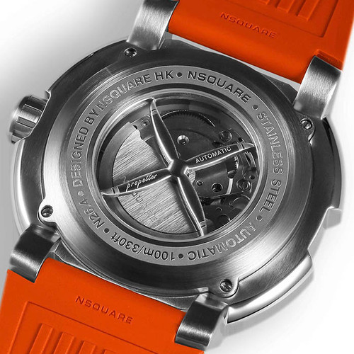Nsquare Propeller Automatic Orange (G0512-N26.4) caseback
