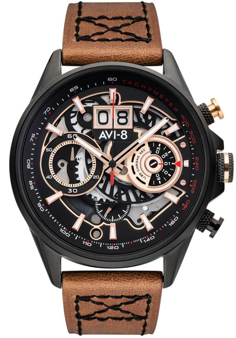AVI-8 Hawker Harrier II Matador Chronograph Black Brown (AV-4065-03) front