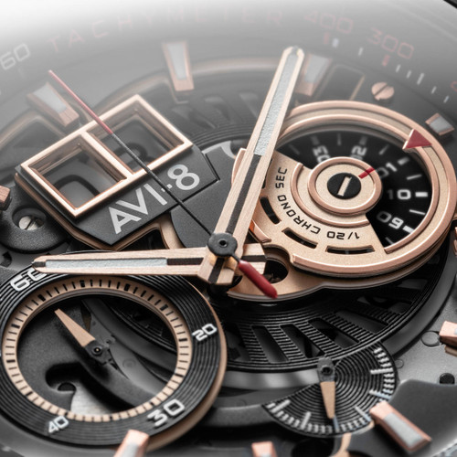 AVI-8 Hawker Harrier II Matador Chronograph Black Brown (AV-4065-03) chronos