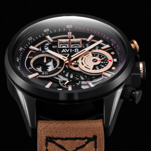 AVI-8 Hawker Harrier II Matador Chronograph Black Brown (AV-4065-03) hero