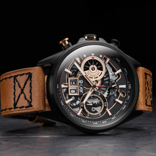 AVI-8 Hawker Harrier II Matador Chronograph Black Brown (AV-4065-03) side 1