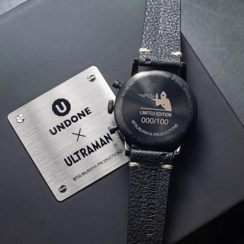 Undone Ultraman Chronograph Limited Edition All Black (UNUCLB) box caseback