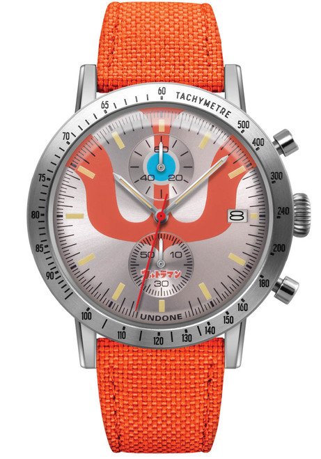 Undone Ultraman Chronograph Limited Edition Silver Orange (UNUCLSO) front