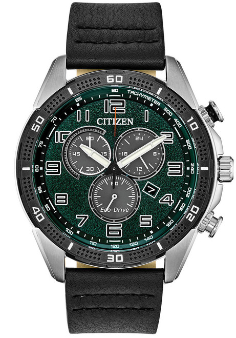 Citizen Eco-Drive Action Required LTR Black Green (AT2441-08X)