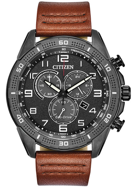 Citizen Eco-Drive Action Required LTR Black Brown (AT2447-01E)