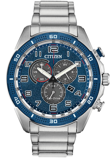 Citizen Eco-Drive Action Required LTR Silver Blue (AT2440-51L)
