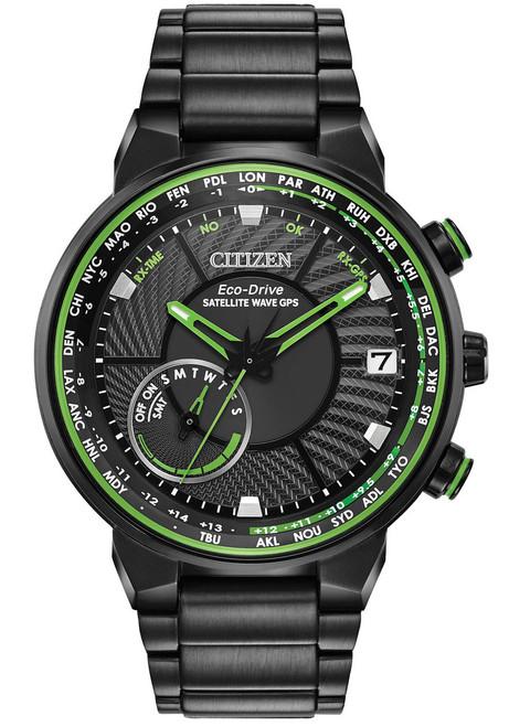 Citizen Eco-Drive Satellite Wave GPS Freedom Green Black (CC3035-50E)