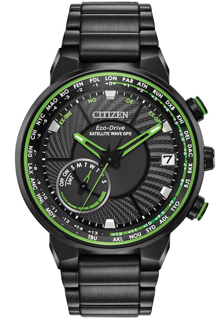 Citizen Eco-Drive Satellite Wave GPS Freedom Green Black (CC3035-50E)
