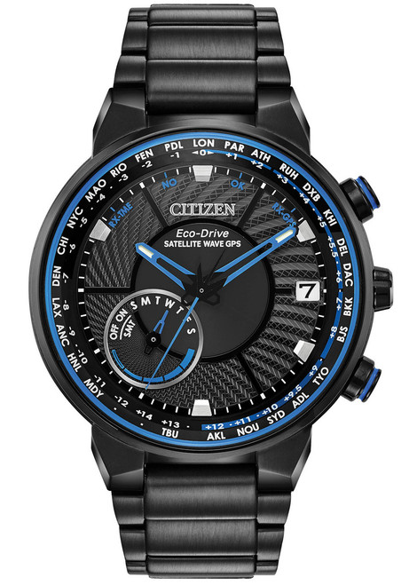Citizen Eco-Drive Satellite Wave GPS Freedom Blue Black (CC3038-51E)