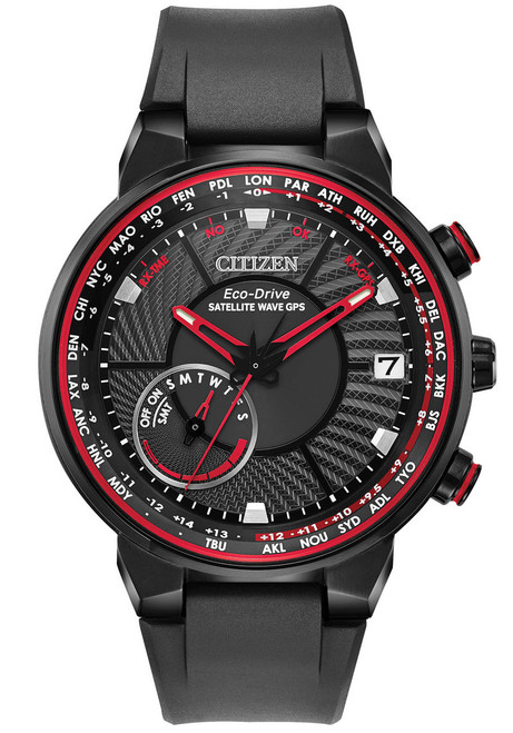 Citizen Eco-Drive Satellite Wave GPS Freedom Red Black (CC3039-08E)