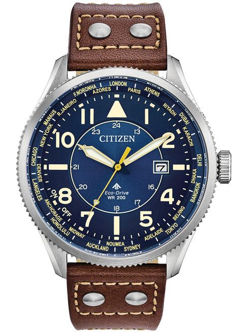 Citizen Eco-Drive Promaster Nighthawk Blue Brown (BX1010-11L)