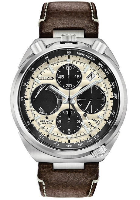 Citizen Eco-Drive Tsuno Chrono Racer Cream Brown (AV0079-01A)