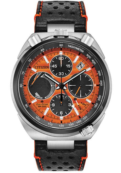 Citizen Eco-Drive Tsuno Chrono Racer Orange Black (AV0078-04X)