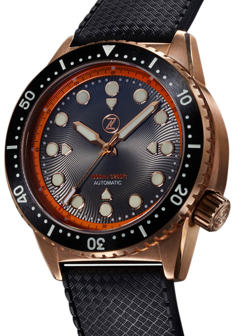 Zelos Great White Swiss Automatic 1000M Bronze Orange (GW-BR-OR)