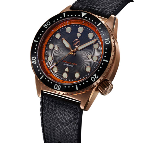 Zelos Great White Swiss Automatic 1000M Bronze Orange (GW-BR-OR) full