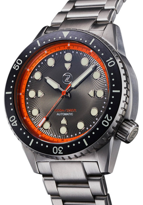Zelos Great White Swiss Automatic 1000M Steel Orange (GW-SS-OR)