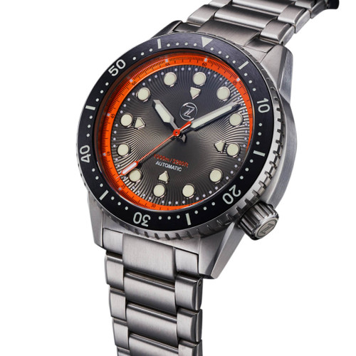 Zelos Great White Swiss Automatic 1000M Steel Orange (GW-SS-OR) full