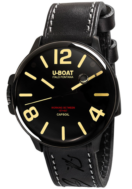 U-Boat Capsoil Swiss Oiled Filled DLC Black (8108) front