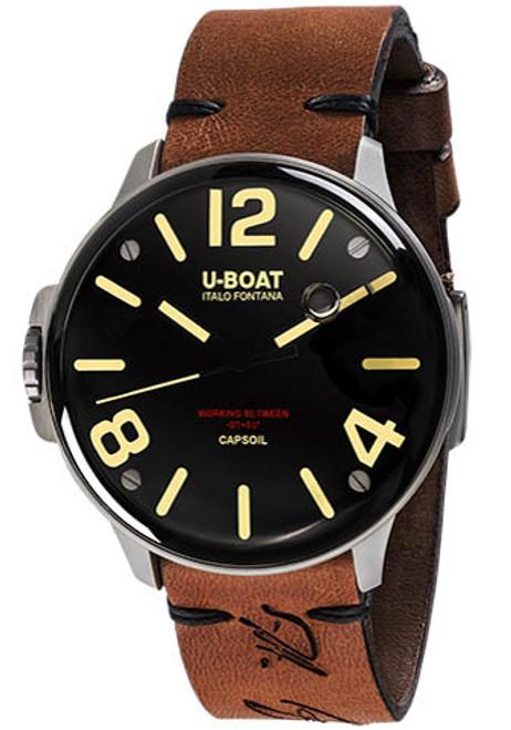 U-Boat Capsoil Swiss Oiled Filled Steel Black Brown (8110) front