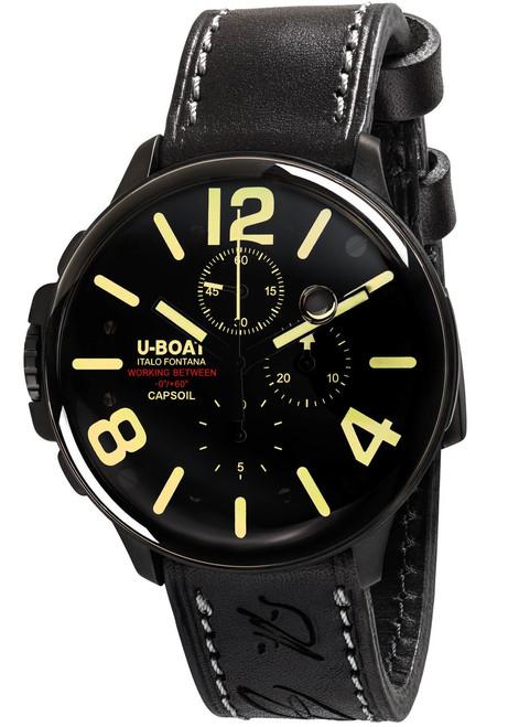 U-Boat Capsoil Swiss Oiled Filled Chronograph DLC Black (8109) front