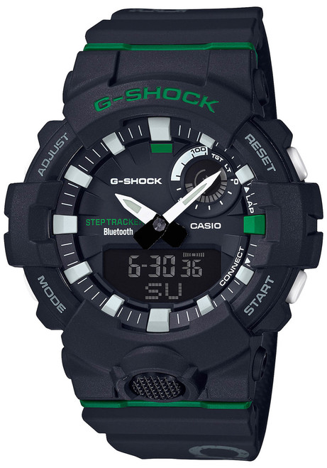 G-Shock GBA800DG Beast It Up! Black Green (GBA800DG-1A) front
