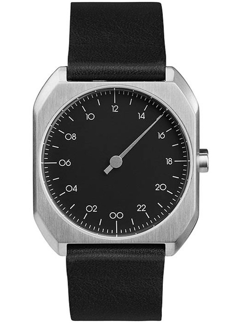 Slow Mo 06 Swiss One Hand Silver Black (slow-Mo-0006) front