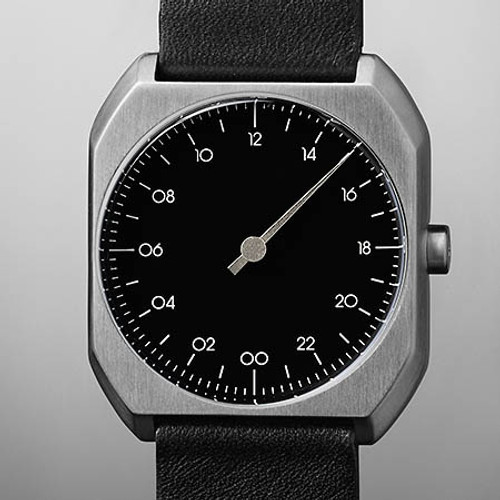 Slow Mo 06 Swiss One Hand Silver Black (slow-Mo-0006) dial
