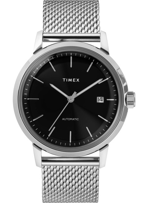 Timex Marlin 40mm Automatic Mesh Silver Black (TW2T22900) front
