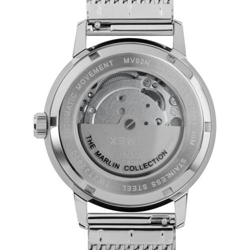 Timex Marlin 40mm Automatic Mesh Silver Black (TW2T22900) caseback
