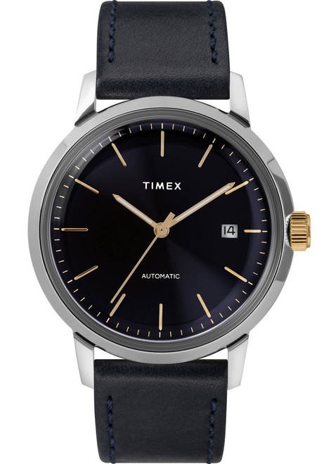 Timex Marlin 40mm Automatic 40mm Navy Gold (TW2T23100) front
