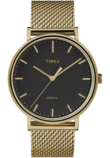 Timex Fairfield 41mm Black Gold Mesh (TW2T37300)
