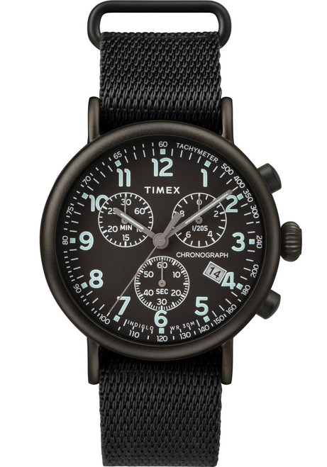 Timex Standard Chrono All Black (TW2T21200) front
