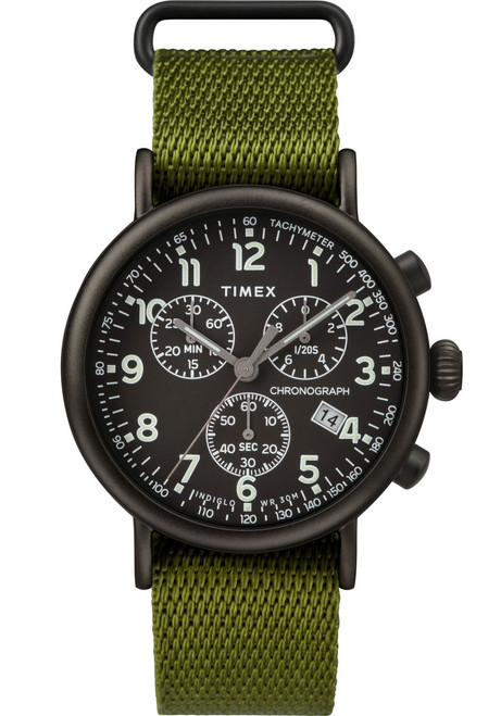 Timex Standard Chrono Black Olive (TW2T21400) front