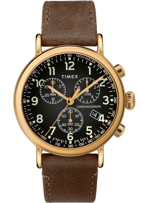 Timex Standard Chrono Grey Brown Gold (TW2T20900) front
