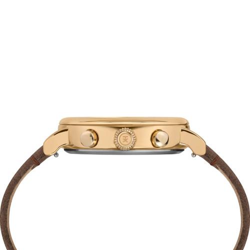 Timex Standard Chrono Grey Brown Gold (TW2T20900) side