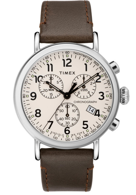 Timex Standard Chrono Silver Cream Brown (TW2T21000) front