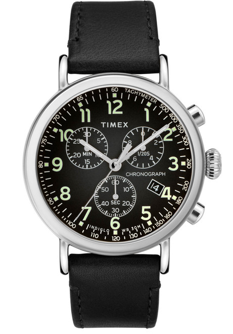 Timex Standard Chrono Black Silver (TW2T21100) front