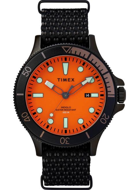 Timex Allied Coastline Indiglo Black Orange (TW2T30200) front